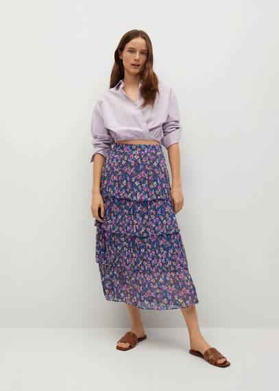 Принтованная юбка с воланами - Lola