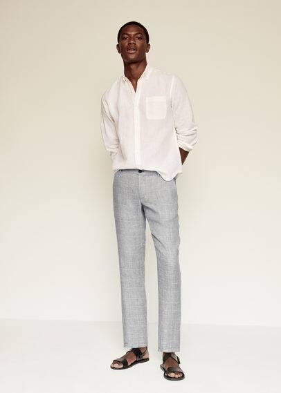 Мужские брюки Mango (Манго) 87065671: изображение 1