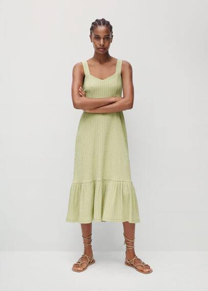 Платье в клетку виши - Sonia