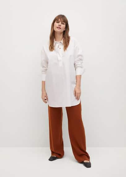 Рубашка с пуговицами сбоку - Lamina