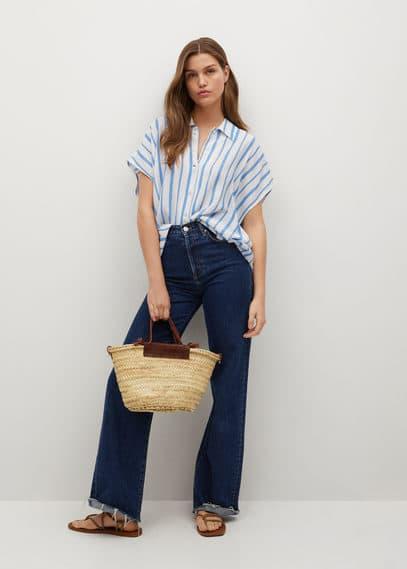 Струящаяся рубашка с пуговицами - Jean