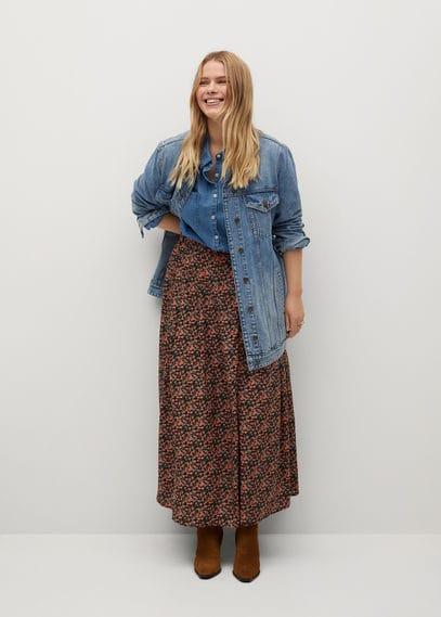 Миди-юбка с цветами - Mossy8