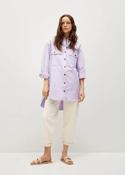 Верхняя рубашка из лиоцелла с карманами - Tana