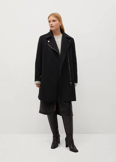 Пальто с лацканами шерсть - Electric