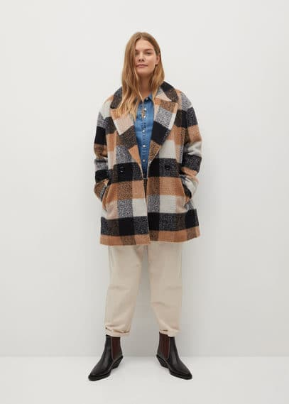 Клетчатое пальто с шерстью - Cuadrito