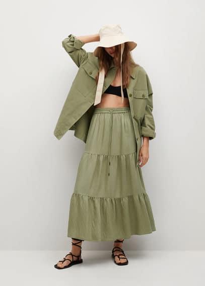 Миди-юбка с воланами - Bambu