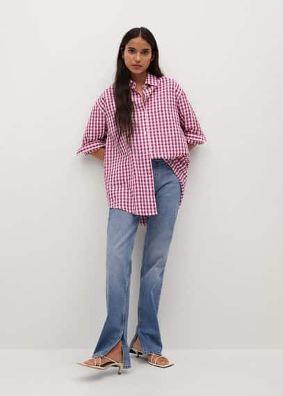 Объемная рубашка в клетку - Isabel-i
