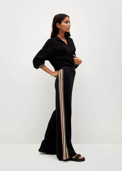 Трикотажные брюки с лампасами - World