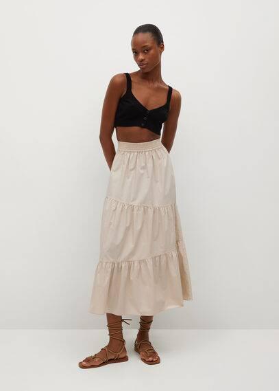 Хлопковая юбка с воланом - Pipa