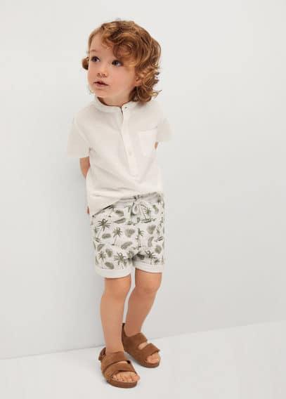 Bedrukte katoenen shorts