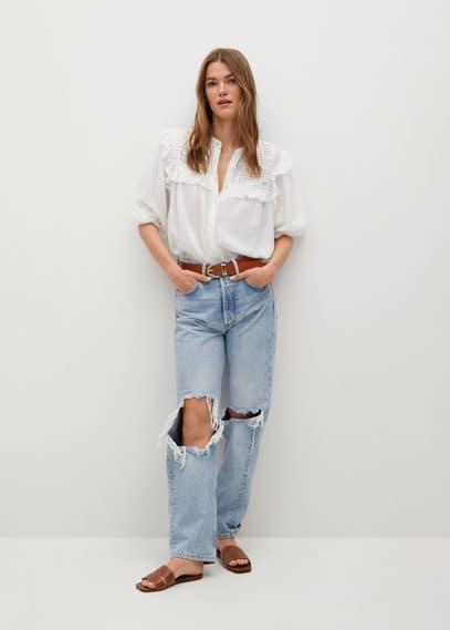 Хлопковая блузка с воланами - Julieta-i