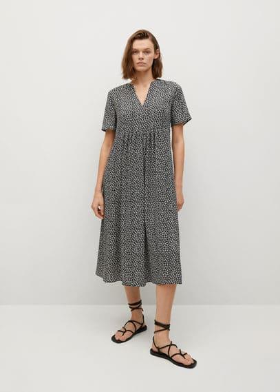 Струящееся платье с цветочным принтом - Fibicer-i