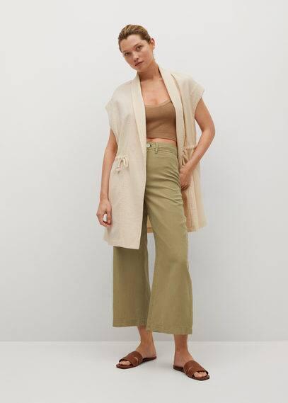Женские широкие и расклешенные брюки Mango (Манго) 87098630: изображение 3
