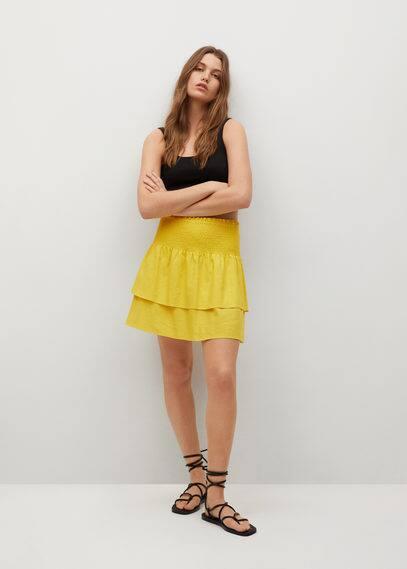 Льняная юбка с воланами - Laci