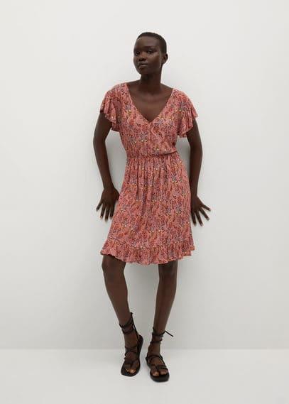 Принтованное платье с поясом - Graciosa