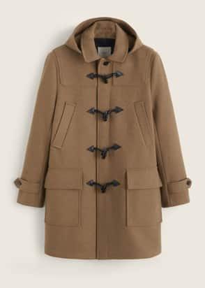 Duffle-coat à capuche amovible