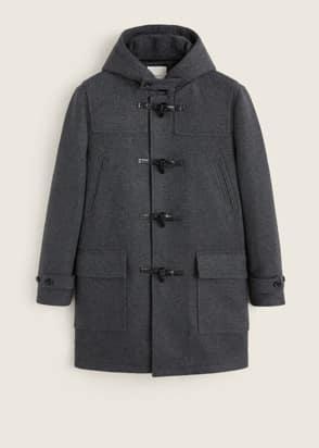 Duffle-coat en laine multipoche
