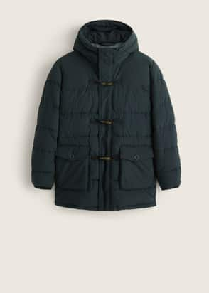Anorak à capuche style duffle-coat