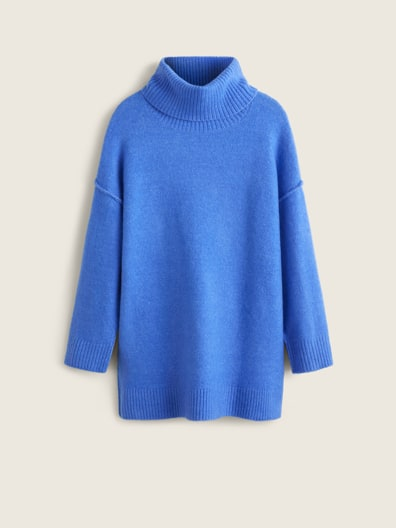 Pull-over maille col montant