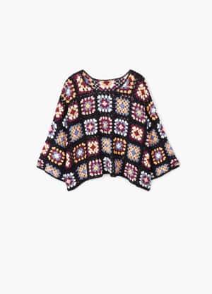 Pull-over en crochet coton