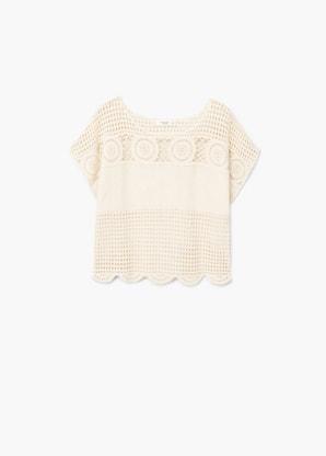 T-shirt avec détail en crochet